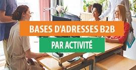 Bases B2B E-mails par activité